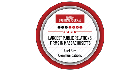 Boston Business Journal – The List – 2020 – Largest Public Relations Firms in Massachusetts – Backbay Communications